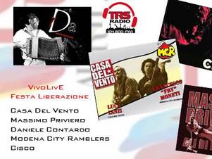 """Speciale Liberazione, Sabato 30 Aprile  ore 14:30   """"ViVOLiVE """"  TRS Radio"""