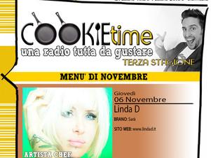 Linda D, Artista Chef del giorno nel Cookie Time di Mattia Garro, su TRS Radio!