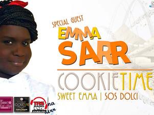 """Emma Sarr con """"Sweet Emma - SOSdolci"""" nel Cookie Time di Mattia Garro"""