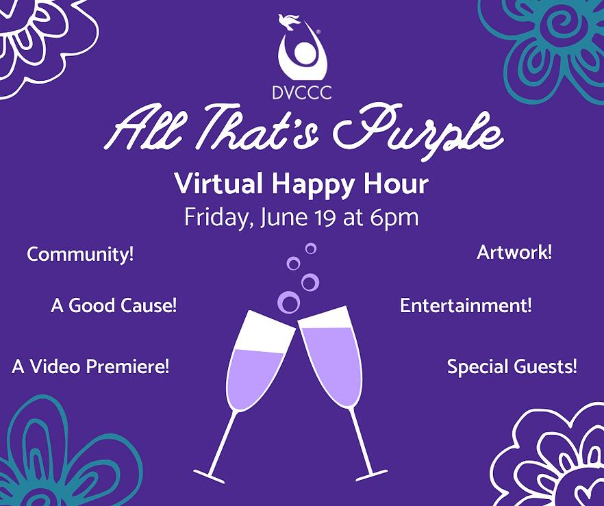 All That's Purple Virtual Happy Hour Fri