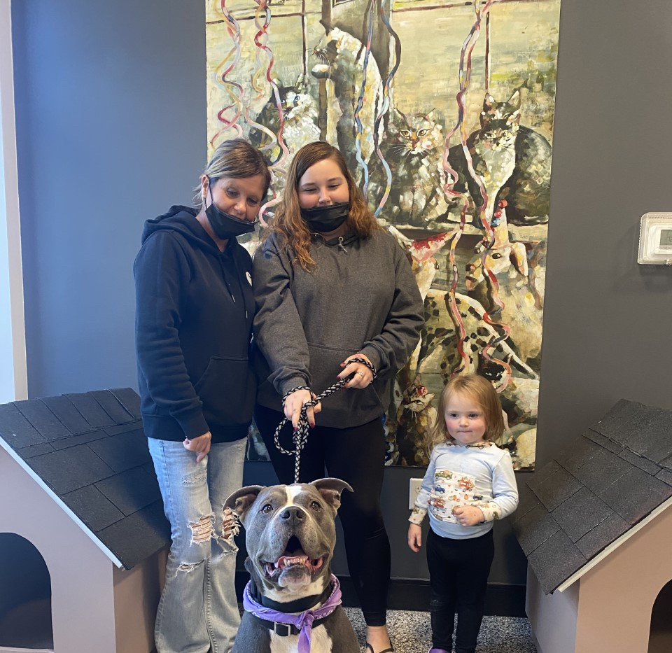 Blue was ADOPTED!