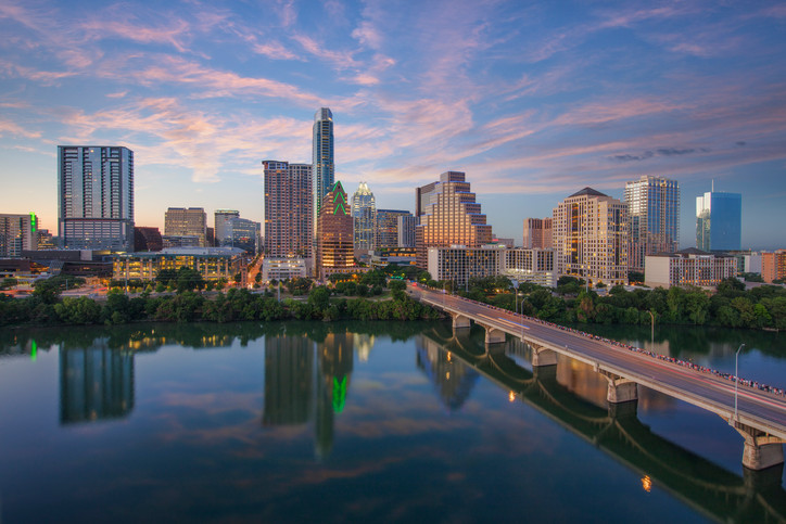 Downtown Austin Skyline from the Hyatt 7
