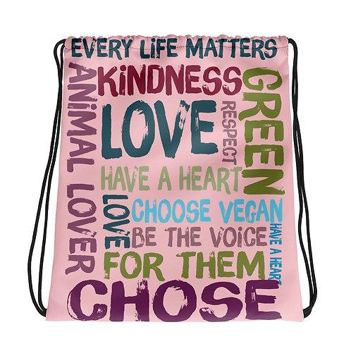 Every Life Matters / Pink / Drawstring Bag