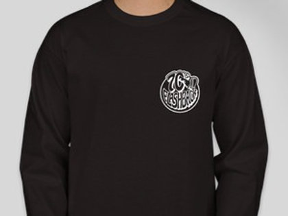 Long sleeve Black and White Logo Cotton Tee