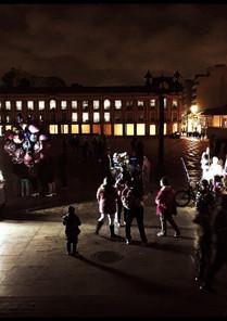 Plaza de Bolívar a media noche