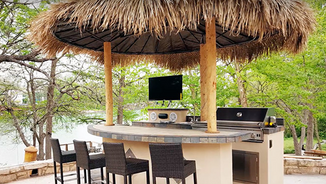 Tiki Huts and Outdoor Kitchens