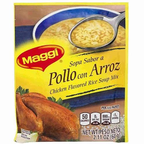 Chicken flavored rice soup Maggi