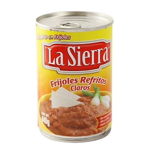 Frijoles refritos claros (REFRIED BEANS) La sierra 440g