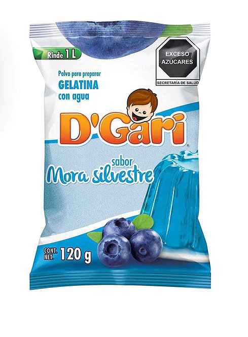 Gelatina D'Gari blueberry 120g