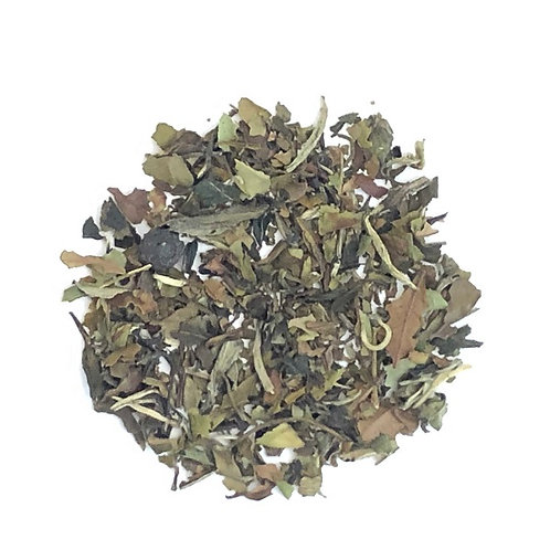 Blueberry, White Tea, Delicate White Tea Leaves, Loose Leaf, Blueberries
