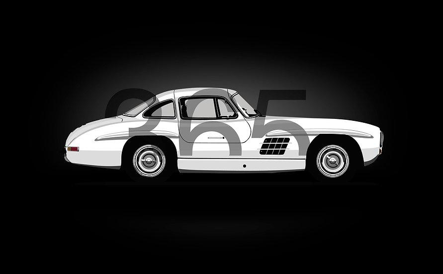 Silhouette Flügeltür Car Cover für Mercedes 300SL