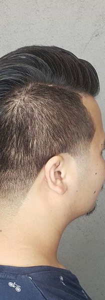 Simple clean cut. Used clay pomade from