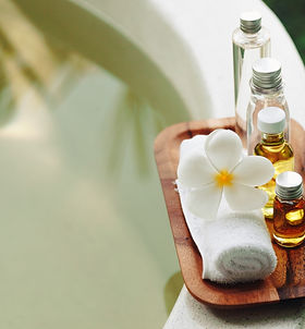 Spa decoration, natural organic bath pro