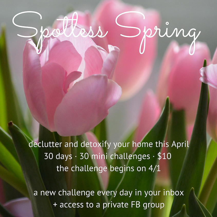 Spotless Spring (online) STARTS MAY 1st