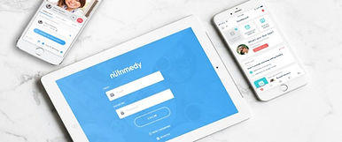 mobile phone and tablet with Nutrimedy App