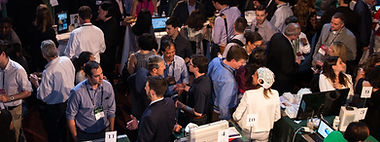 People talking at a conference