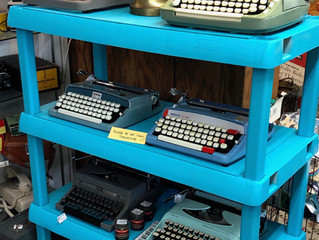 Typewriters! Click Clack...Ding!