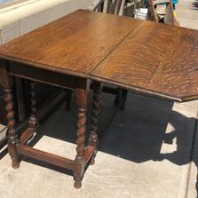 Beautiful oak table with barley twist legs - vendor #1 - $450