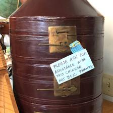 Antique Chinese Hat Box - vendor #13 - $55