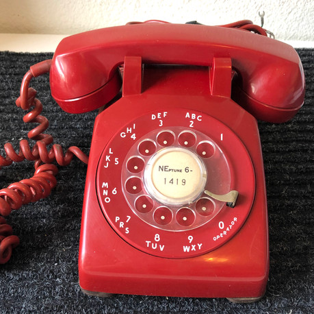 Red Rotary Telephone - vendor #13 - $29