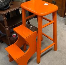 Orange Stool - vendor #39 - $34