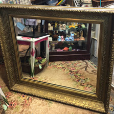 Very Nice Heavy Vintage Mirror - vendor #34 - $395