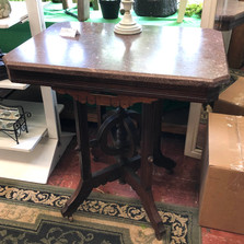 Victorian Eastlake parlor table - #39 - $195