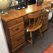 7 drawer maple desk - vendor #39 - $89