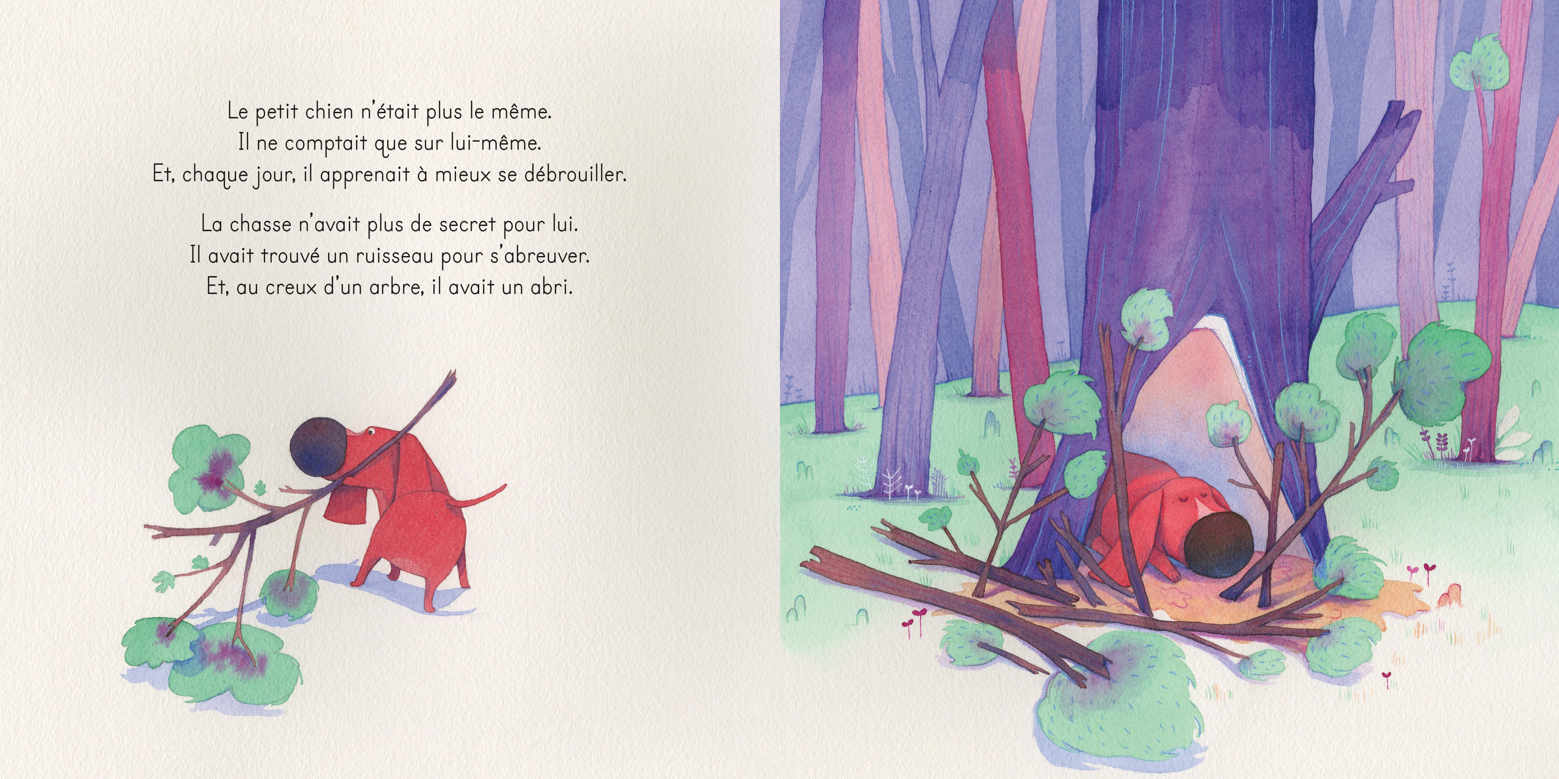 melanie-fuentes- Le Petit Chien des bois