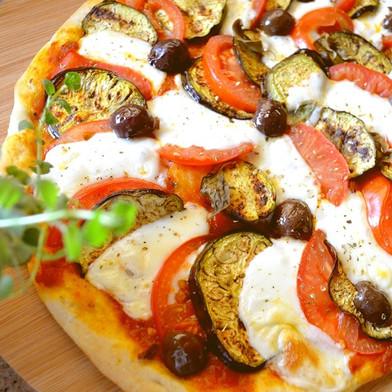 بيتزا بالباذنجان المشوي