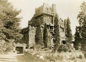 Archive photo of Gillette Castle circa 1920; CT State Library