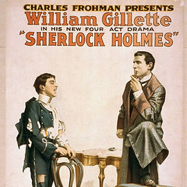 William Gillette as Sherlock Holmes Theater Poster 2