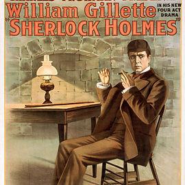William Gillette as Sherlock Holmes Poster