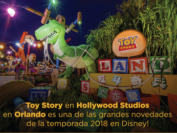 Toy Story en Holywood Studios en Orlando
