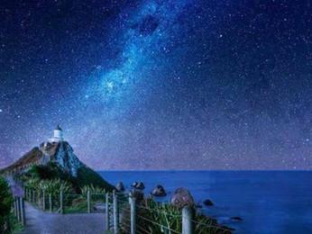 La Vía Láctea vista desde la Isla del Sur, Nueva Zelanda