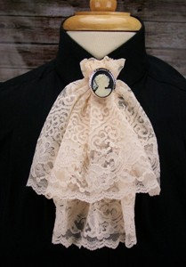 Lace Jabot with Ornament (C-103)