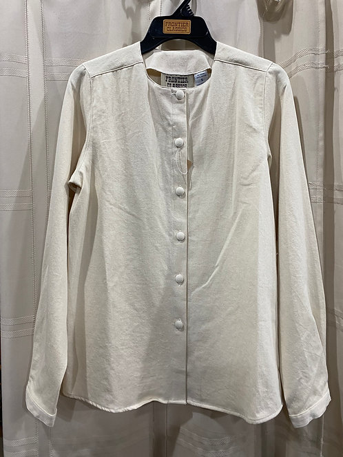 Collarless twill blouse (CL410)
