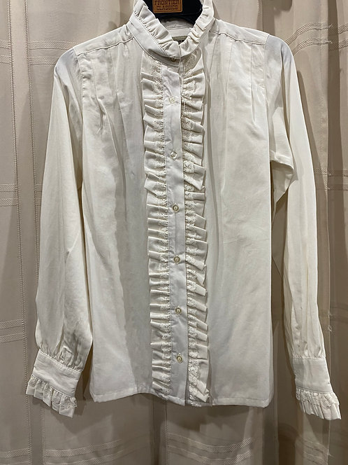 Ruffle-front blouse (CL439)