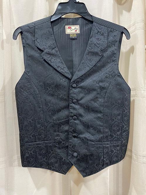 Black Paisley Vest (RW546)