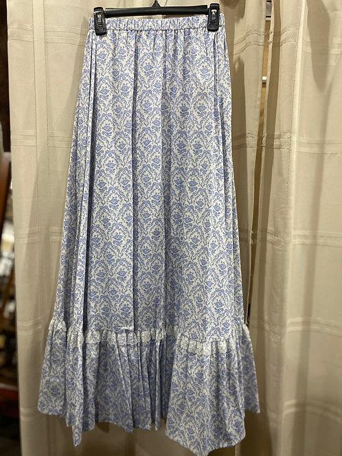 Blue Rose print skirt (CL363-351)