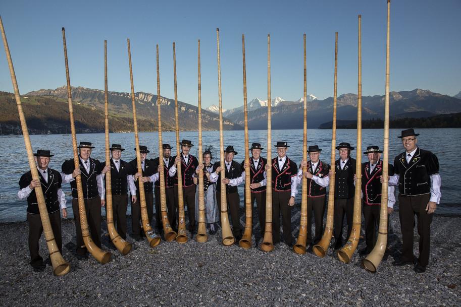 Alphorngruppe Echo vom Stockhorn Thun, Bild 1