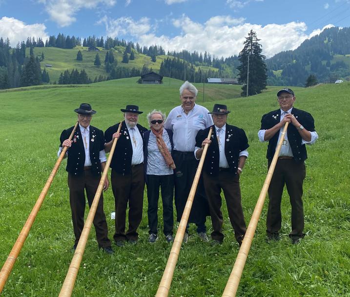 Alphorngruppe Echo vom Stockhorn  Thun Thunersee