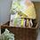 Thumbnail: Couverture HIBOUX GRIS ET ORANGES en tissu doux Minky et coton, env. 97x72cm