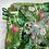 Thumbnail: Couverture JUNGLE en tissu doux Minky et coton, env. 97 x 75cm