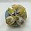 Thumbnail: Balle de Préhension - MONTESSORI - BLEU JAUNE GRIS Lama Noël avec grelot