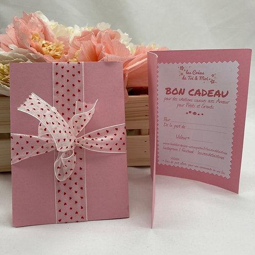Bon Cadeau à offrir - ROSE - MONTANT AU CHOIX