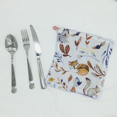 Serviettes de Table en tissu éponge bambou et coton, env. 20x20cm (sur commande)