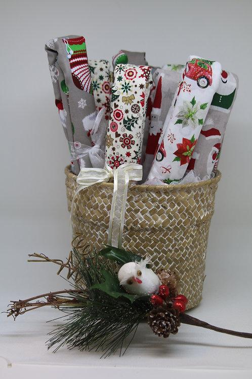 70x70cm - Furoshiki - Papier Cadeau de Noël