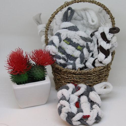 Tawashi - éponge lavable tissée (à l'unité, coloris aléatoire)