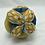 Thumbnail: Balle de Préhension - MONTESSORI -  BLEU JAUNE Plumes avec grelot